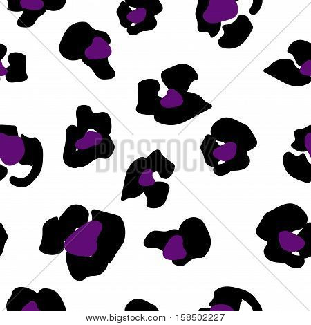 Seamless pattern of jaguar spots. Natural textures
