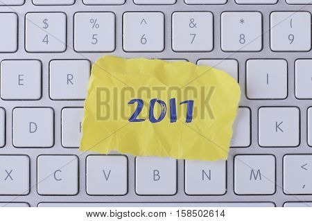 2017 card with information on the keyboard