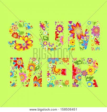 Summery floral print