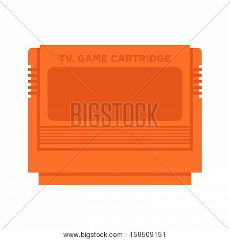 TV game cartridge, orange on white background