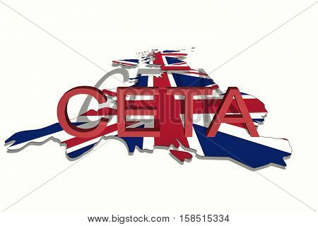 Ceta - Comprehensive Economic And Trade Agreement On  United Kingdom Map