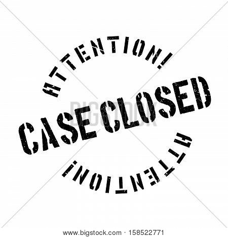 Case Closed Stamp