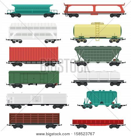 Train carriages car without striping. Travel railroad passenger locomotive vector wagon train carriages. Modern vehicle train carriages station track car technology business traffic.