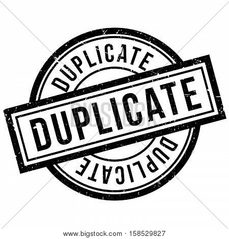 Duplicate Rubber Stamp