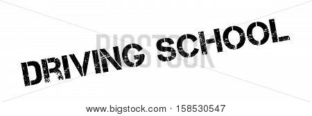 Driving School Rubber Stamp
