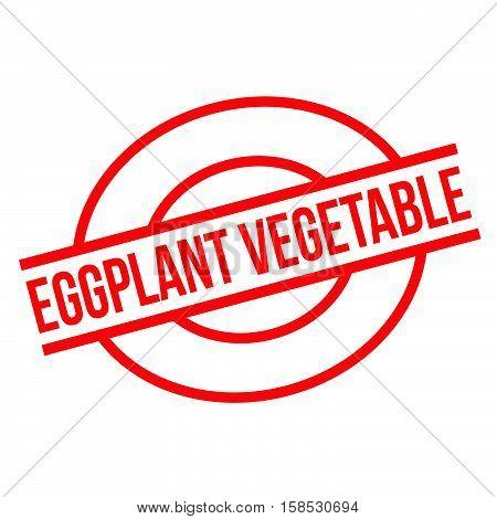 Eggplant Vegetable Rubber Stamp