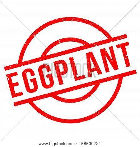Eggplant Rubber Stamp