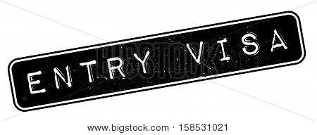 Entry Visa Rubber Stamp