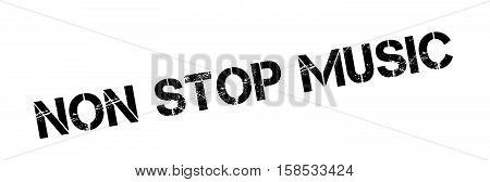 Non Stop Music Rubber Stamp