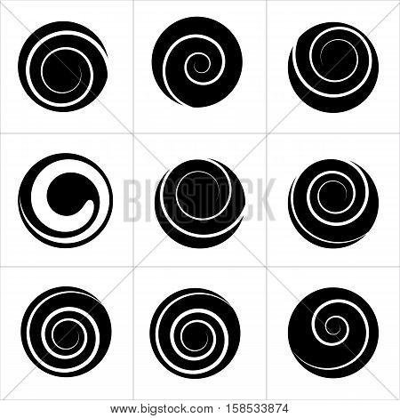 Collection of spiral vector elements. For your next projects.