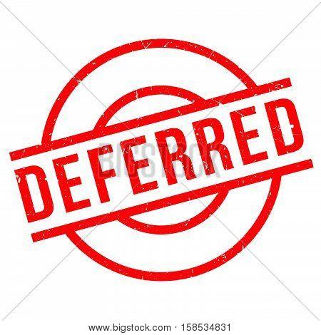 Deferred Rubber Stamp