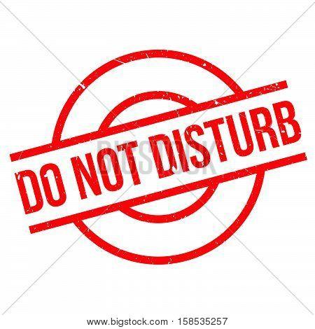 Do Not Disturb Rubber Stamp