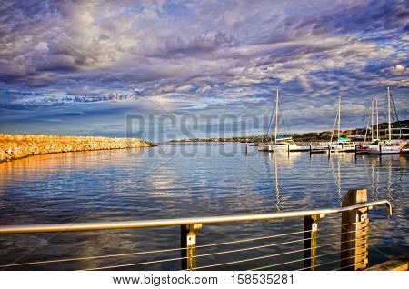 Peaceful Mindarie Marina , Perth Western Australia at sunrise