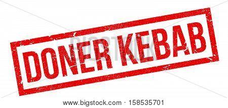 Doner Kebab Rubber Stamp