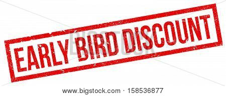 Early Bird Discount Rubber Stamp