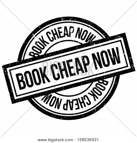 Book Cheap Now Rubber Stamp