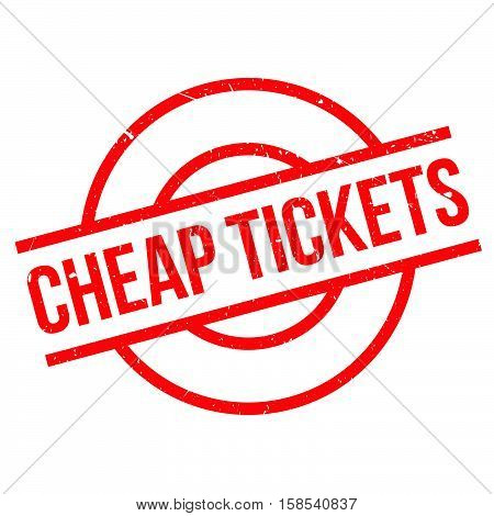 Cheap Tickets Rubber Stamp