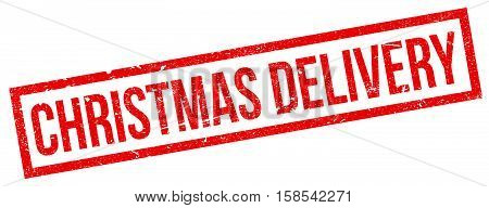 Christmas Delivery Rubber Stamp