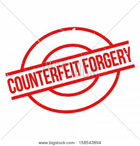 Counterfeit Forgery Rubber Stamp