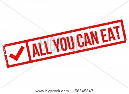 All You Can Eat Stamp