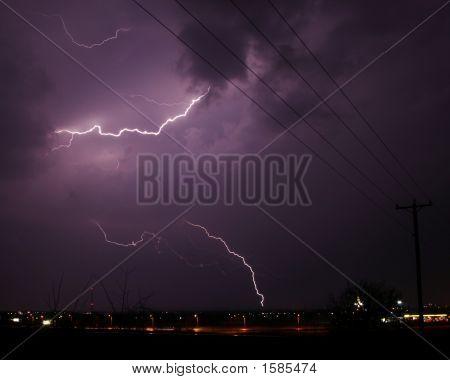 Lightning Strike To Cloud
