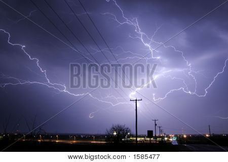 Cloud Lightning Strike
