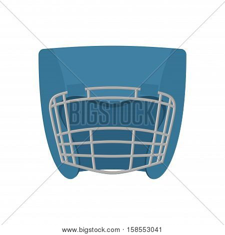 Boxing Helmet Blue. Boxer Mask Isolated. Spor Accessory For Training