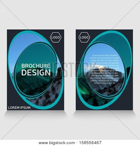 vector brochure flyer design layout template, size A4, front page and back page.