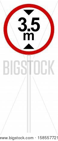 Prohibitory Traffic Sign - Limiting Heights