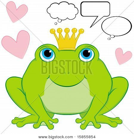 Vector Frog Prince