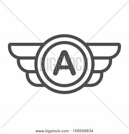 Wings logo, user personal badge, wing based icon, company brand or logotype. Isolated vector illustration.