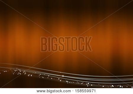 Abstract brown background with the light lines at the bottom - illustration