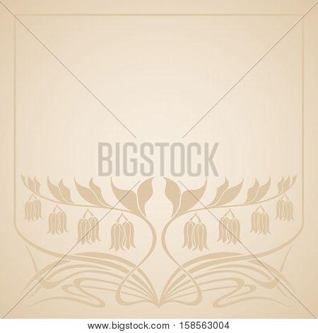 Vector Art Deco Invitation Card.