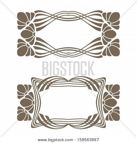 Vector Art Deco Frames.