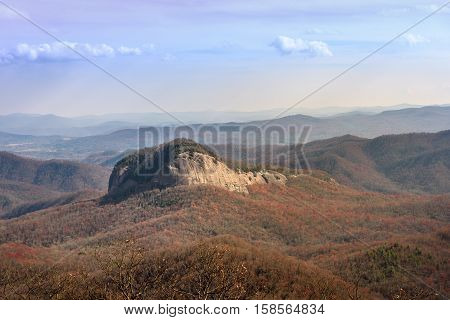 Looking Glass Mountain view from Blue Ridge Parkway