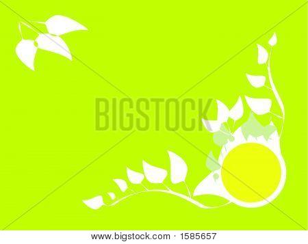 Vector illustration of decorative floral frame backgrounds poster
