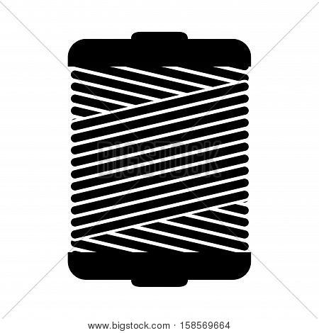 monochrome silhouette wiht Thread Spool vector illustration