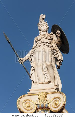 classic Athena statue, athens, greece, downtown, murble