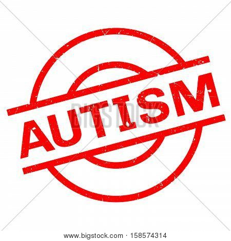 Autism Rubber Stamp