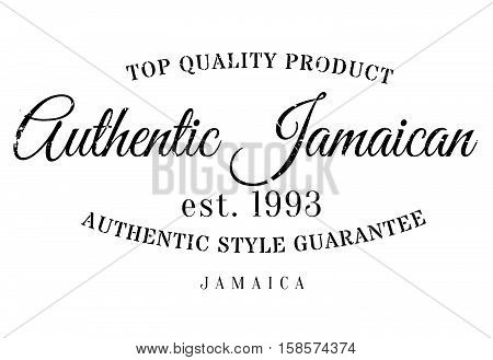 Authentic Jamaican Product Stamp