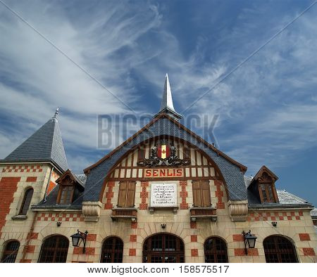 Station Building In The Gothic Style. France, Senlis, Picardy