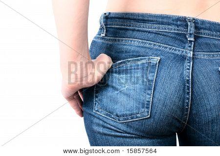 Womans Jeans Backside