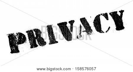 Privacy Rubber Stamp