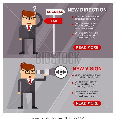 Business Banner Vision Direction