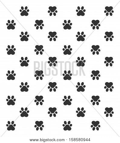 Paw Print. Vector Illustration, paw print pattern