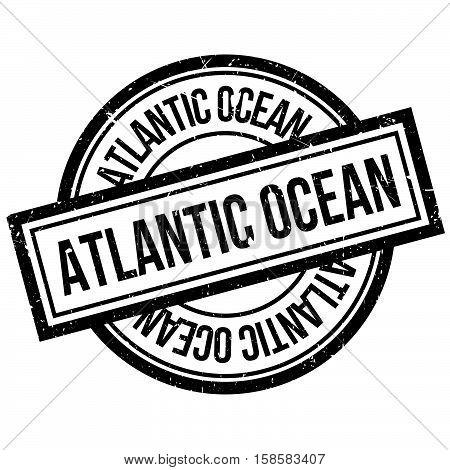 Atlantic Ocean Rubber Stamp