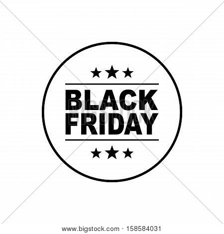 Black Friday banner. Black Friday inscription on white background. Sale sticker. Holiday Sale Advertising icon.