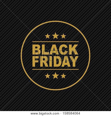 Black Friday. Black Friday inscription on black background. Sale sticker. Holiday Sale Advertising web banner.