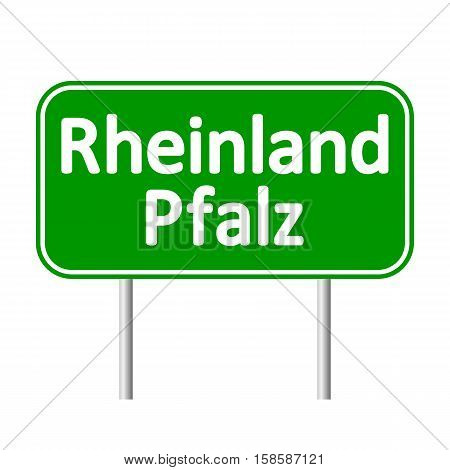Rheinland-Pfalz road sign isolated on white background.