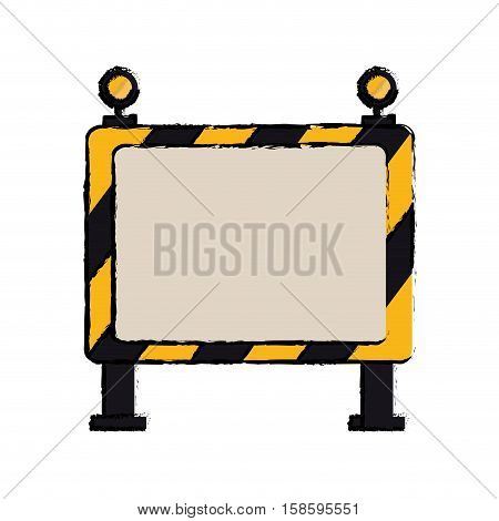 drawing barricade safety maintenance work vector illustration eps 10